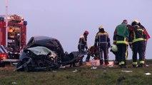 Muntendam - Man overleden na frontale botsing met vrachtwagen op de N33