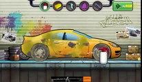 Purple car for kids | Cartoon about wash car | Dessin animé sur la voiture de lavage