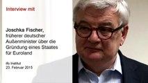 Interview mit Joschka Fischer über die Gründung eines Staates für Euroland