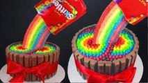Skittles Rainbow Cake! How to make a Skittles Cake Cupcakes & Cardio! Cupcake Addiction