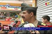 Chorrillos: caen delincuentes que estaban a punto de asaltar fábrica