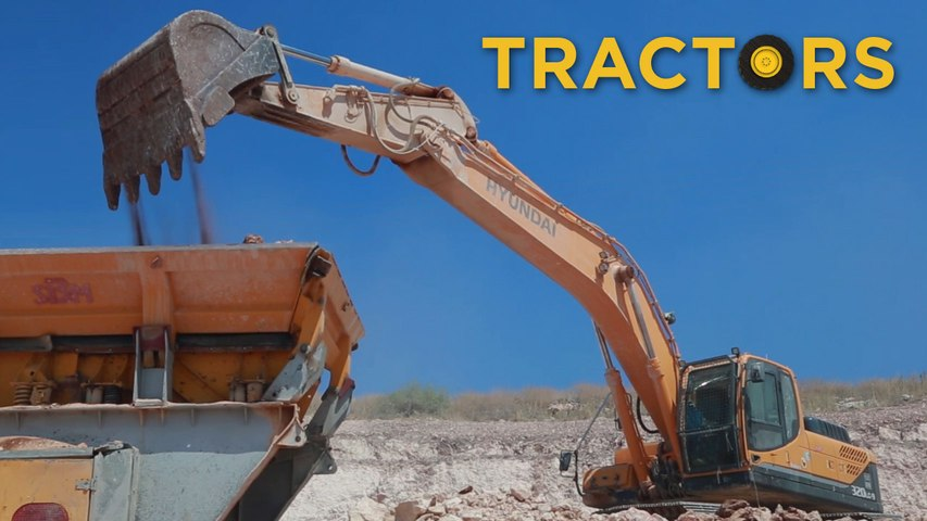 Trucks Diggers and Drilling Machine   Videos For Children    Toys for Boys