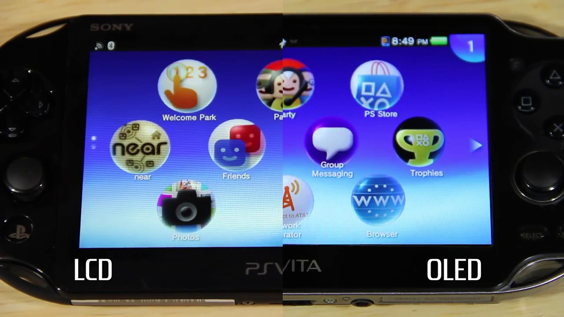 Ps Vita Screen Comparison Pch 2000 Lcd Vs Oled Vita Video Dailymotion