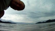Passeio na praia e nos mares, Ubatuba, Praia da Enseada, Litoral Norte, SP, Brasil, 2015