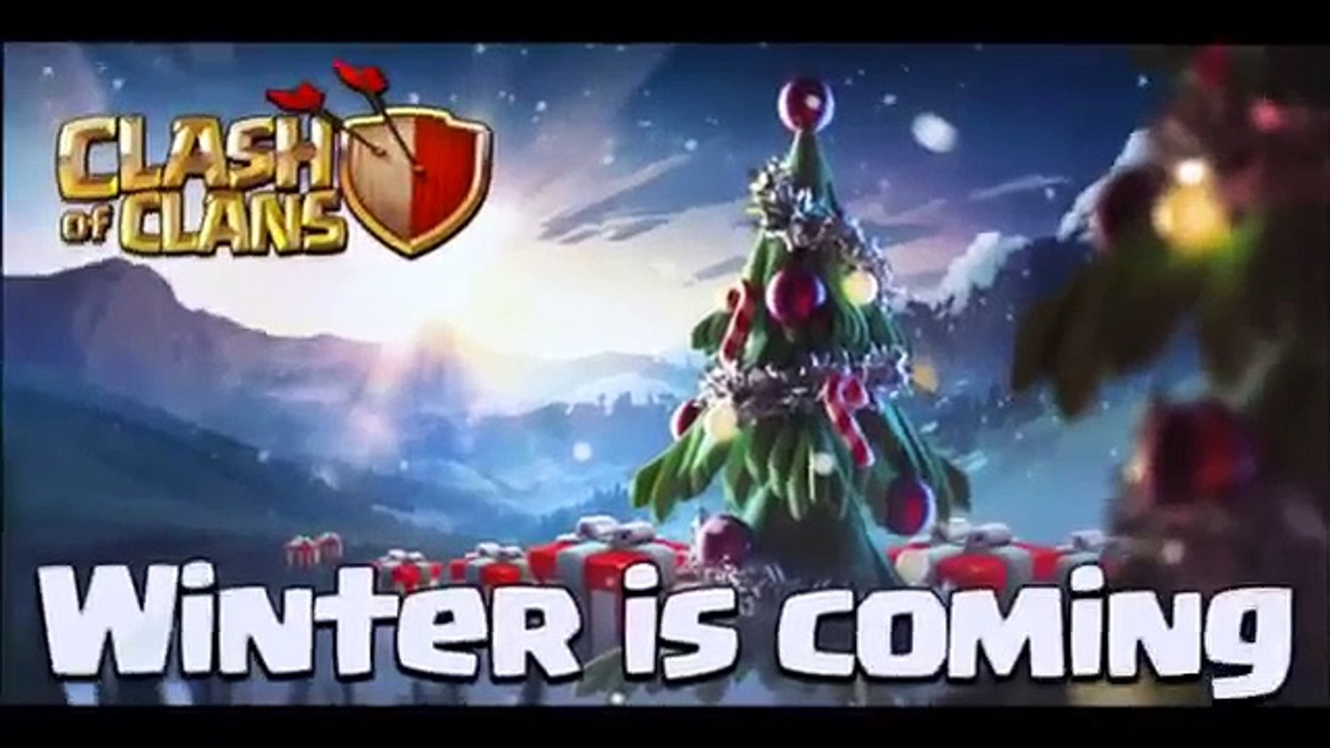 Clash Of Clans Christmas Trees In Order.Clash Of Clans New Christmas Update Sneak Peek New Christmas Tree
