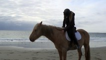 Marie Madec and her stallion Utah-Freestyle on the Beach (motivational video)