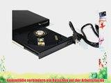 BIGtec externes USB slim CD ROM CD-ROM Laufwerk 24x extern schwarz