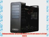 SilverStone FT02SB Fortress PC-Geh?use (micro-ATX 5x 525 externe 5x 35 interne USB 3.0) schwarz