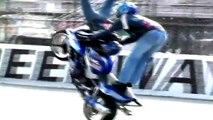 BEST EXTREME MOTORBIKE STUNTS: DOUBLE BACK FLIP, FRONT FLIP, FREESTYLE IN SLOW MOTION