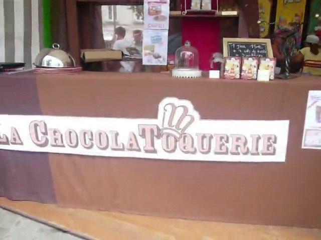 La ChocolaToqueriE, le stand d'AllumetteS créations, sur le FLIP 2015