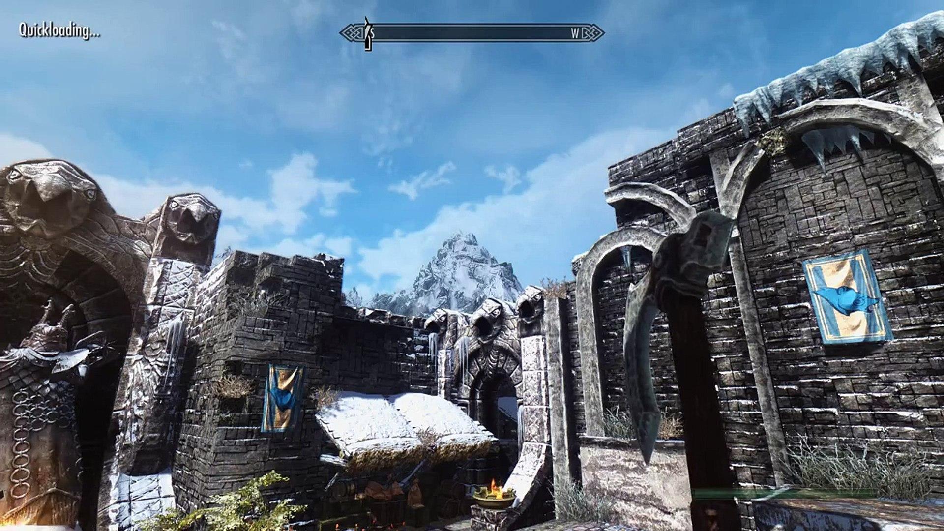 Elder Scrolls V: Skyrim - Mountain Fog Flickering