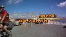 Descending Le Mont-Ventoux, max 84.7kmh, Cube AMS 125 ATB, VTT