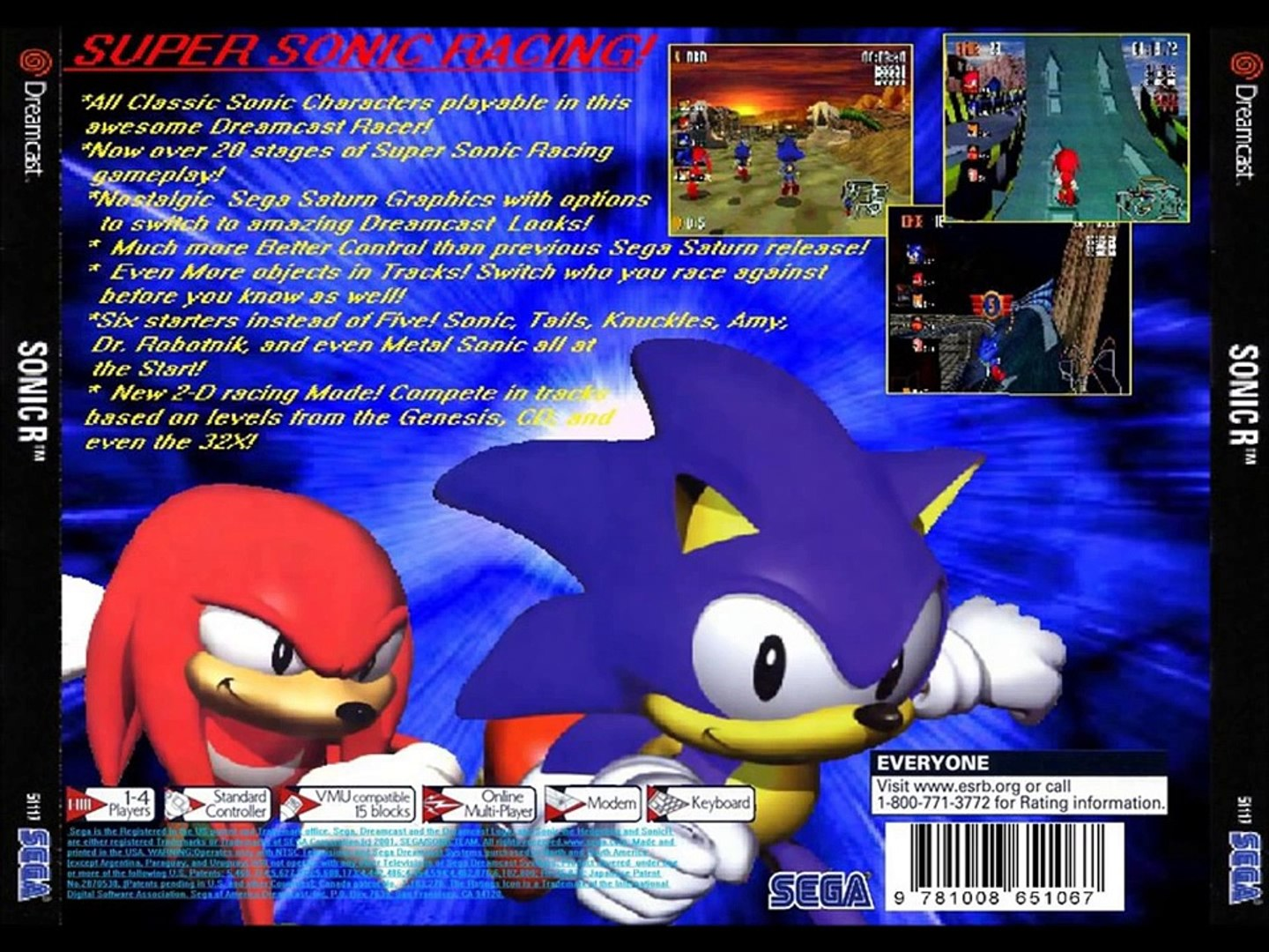 Sonic R For The Sega Dreamcast 2000 2001 Video Dailymotion