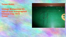 Vintage Muhammad Ali signed auto autographed Cassius Clay 1972 Ticket