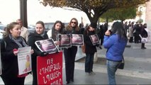 Armenian women protest against government's decision to cut maternity pay