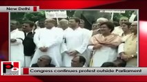 Suspension of MPs: Congress continues its protest outside Parliament