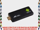 Android 4.2 Mini-PC mit 18 GHz Quad-Core mit 2G RAM DDR3 RK3188 TV Box TV Dongle Bluetooth