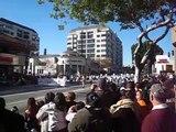 Águilas Doradas del Centro Escolar Morelos de Puebla en el Desfile de las Rosas