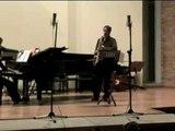 (2)Apostilla para saxo tenor y piano. Apostilla for tenor sax and piano. Part 2. Enrique Blanco