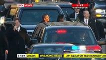 President Obama walks down Pennsylvania avenue during inaugural parade PART2 (16:9 HQ)