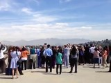 Shuttle Endeavor Flies Over Children's Hospital Los Angeles