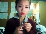 christmas look tutorial part II red lips and neutral eyes Make up