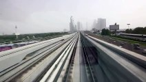 Dubai - Two Metro Stations Trip [HD]