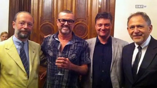 George Michael meets his doctors & stuff  from AKH hospital @ Ritz Carlton @ Vienna  06.09.12