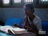 Abha Gandhi at her office at Kasturba Ashram - Footage
