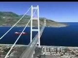 Modello dell'Anas del Ponte sullo Stretto di Messina