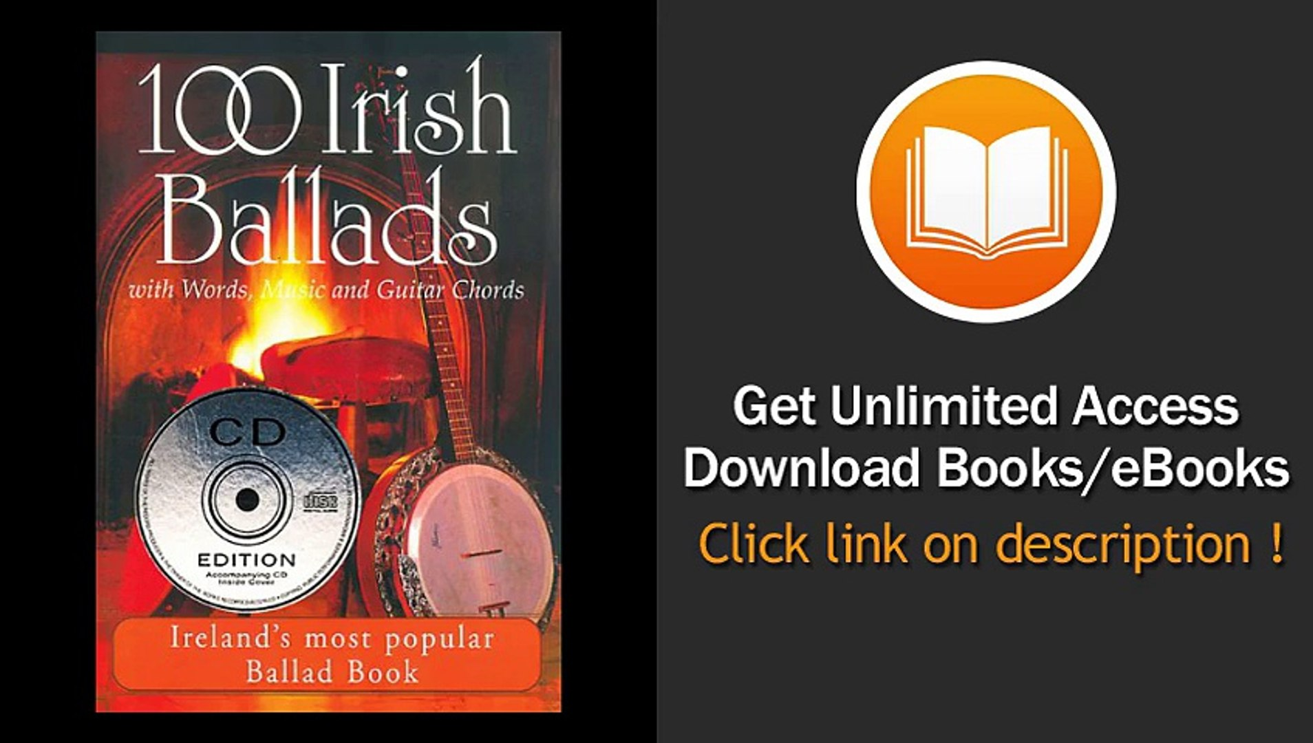 100 Irish Ballads - Volume 1 Irelands Most Popular Ballad Book EBOOK (PDF) REVIEW