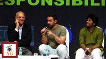 AIB KnockOut Controversy , Karan JOhar & Arjun Scolded By Me Says Aamir Khan
