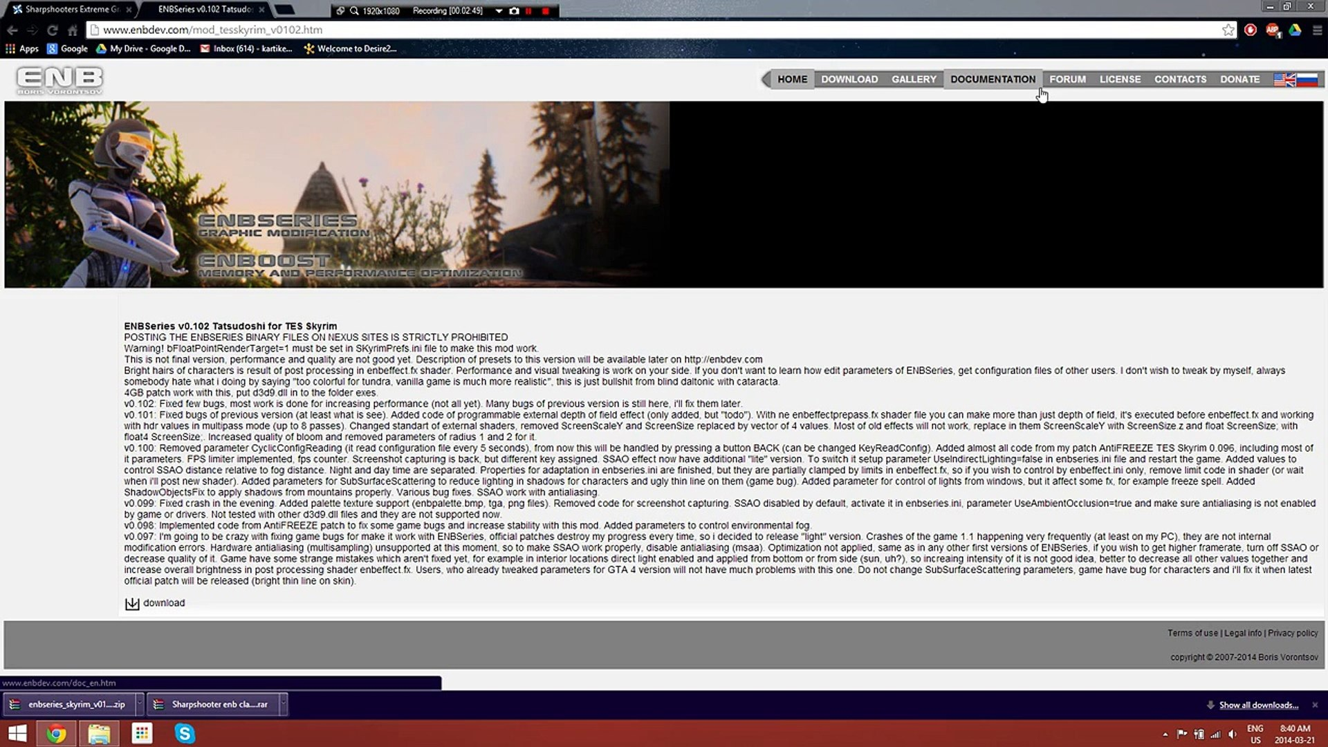 Skyrim: Sharpshooters ENB installation - video dailymotion