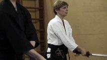 Batto, Self defense, martial arts, Aikido, Sinten Dojo, female aikido, training,, 07/08/15