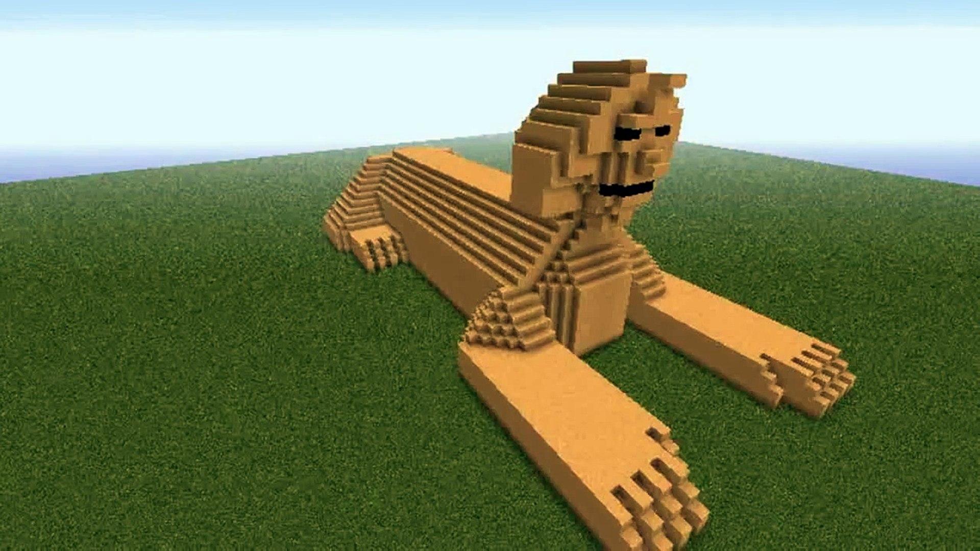 Minecraft, The Sphinx statue