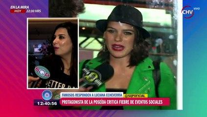 Revuelo causó Luciana Echeverría por sus dichos sobre los eventos sociales - SQP