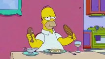 Homer schlägt seinen Kopf auf den Tisch