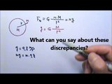 AP Physics 1: Forces 30: Gravity and Gravitational Acceleration Problems