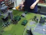 Blue Table Painting- Tau v Dark Angels Battle Clips