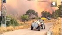 Incendies   inquiétude près de Barcelone, espoir près de Bordeaux