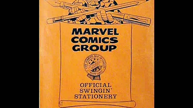Marvel Comics Stationery From The 1960's And 1970's