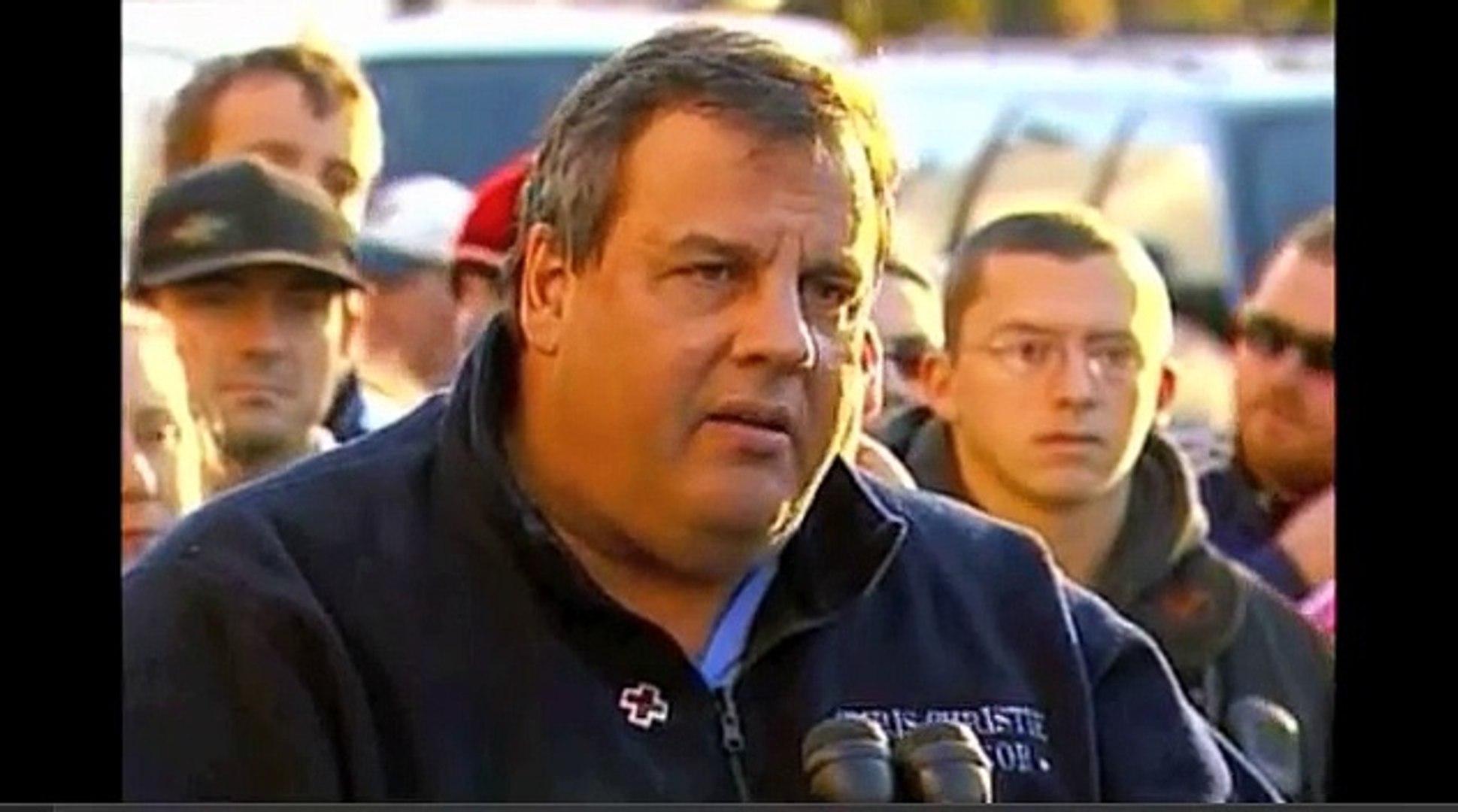 Chris Christie Inspirational Speech during Hurricane Sandy