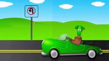 Learn Traffic Signs and Symbols with Monster Street Vehicles and Trucks for Kids Part 3