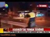 Fenerbahçeli taraftarlar yunanlılara saldırdı-Fenerbahçe vs Paok
