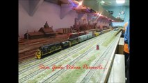 Railfanning the Valley Model Railroad Club HO scale Layout With Lots of Great Action