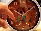 Nice Kids Cartoon Round 10 inch Non Ticking Ultra Silent Wall Clock