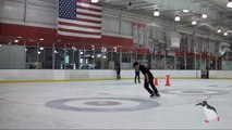 Freestyle Ice Skating 2 -  How to stop on ice skates