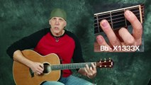 Learn songs The Beatles Let It Be acoustic guitar lesson Beginner Intermediate with chords strums
