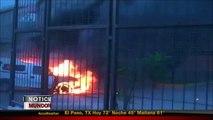 Manifestantes incendian la sede del PRI en Guerrero en protesta por estudiantes desaparecidos