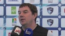 Avant Paris FC - HAC, itv Thierry Goudet